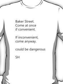 Sherlock Holmes text message T-Shirt