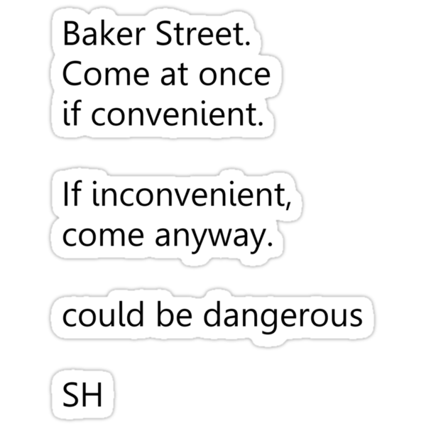 Sherlock Holmes text message by ShireLocked