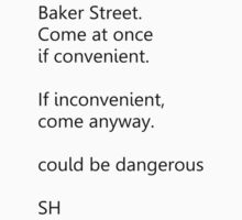 Sherlock Holmes text message (small) by ShireLocked