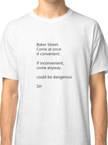 Sherlock Holmes text message (small) Classic T-Shirt