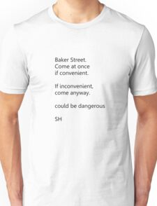 Sherlock Holmes text message (small) Unisex T-Shirt