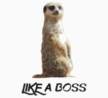 Like a Boss Meerkat by upsidedownRETRO