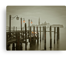 Misty Morning in Venice Canvas Print