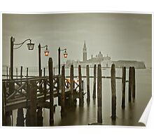 Misty Morning in Venice Poster