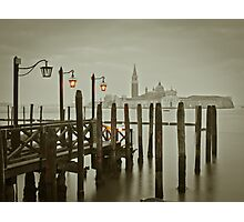 Misty Morning in Venice Photographic Print