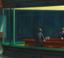 Vintage Edward Hopper Nighthawks Diner Sticker