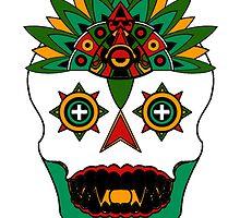 Aztec God of Death by Sebasauraus