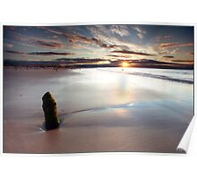 Sunset over Lossiemouth Beach Poster