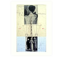 RETRATO DE 4 DESCONOCIDOS DANDO LA ESPALDA (portrait of 4 unknown group of persons with backs turned) Art Print