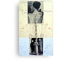 RETRATO DE 4 DESCONOCIDOS DANDO LA ESPALDA (portrait of 4 unknown group of persons with backs turned) Canvas Print