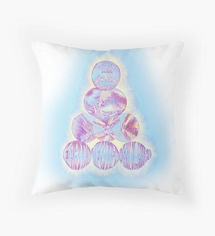 Dominant Oranges Throw Pillow