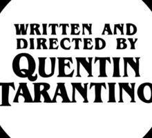 Quentin Tarantino Films Sticker