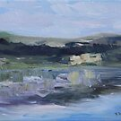 Cut Banks Stuart River Plein Air July 2013 by TerrillWelch