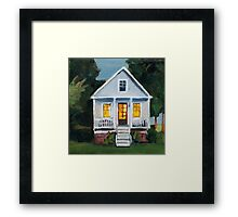 Cottage at Dusk Framed Print