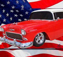 Patriotic 55 Chevy by cthomas888