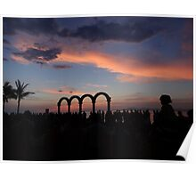 tropical sunset - puesta del sol tropical Poster