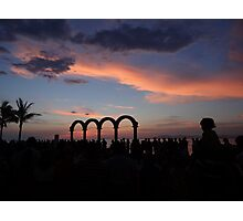 tropical sunset - puesta del sol tropical Photographic Print