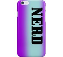 Nerd- Purple and Blue stripe iPhone Case/Skin