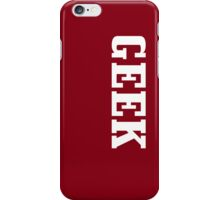 Geek- burgundy iPhone Case/Skin
