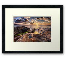 West Harris Sunset Framed Print