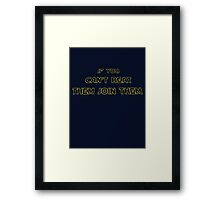For the reluctant Star Wars person Framed Print