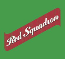 Red Squadron Beer  Kids Tee