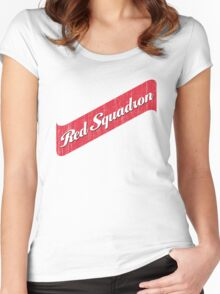 Red Squadron Beer  Women's Fitted Scoop T-Shirt