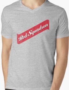 Red Squadron Beer  Mens V-Neck T-Shirt