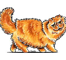 Orange Tabby Persian by offleashart