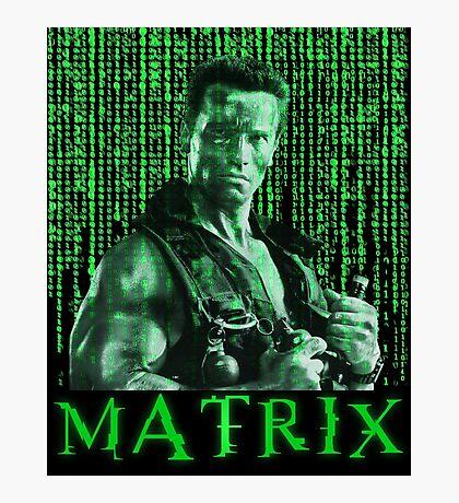 John Matrix - Commando Photographic Print