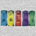 Real Photo of Beautifull Old Battered British Phone Boxes with added colour by jlisme
