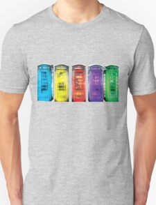 Real Photo of Beautifull Old Battered British Phone Boxes with added colour Unisex T-Shirt