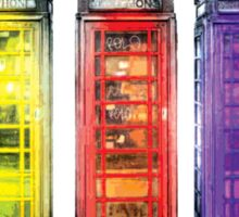 Real Photo of Beautifull Old Battered British Phone Boxes with added colour Sticker