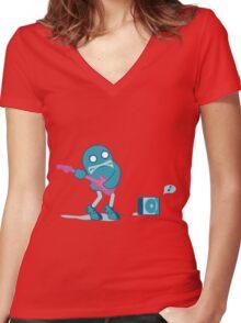 MONSTA BASS Women's Fitted V-Neck T-Shirt
