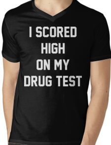 Funny Marijuana Drugs Mens V-Neck T-Shirt