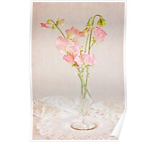 Old Fashioned Sweet Peas Poster