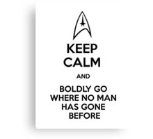 Keep Calm and Star Trek Canvas Print