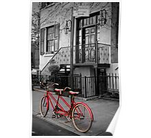 Manhattan Bicycle in Autumn, NYC Poster