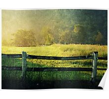 Worn Out Fence landscape photography rustic art Poster