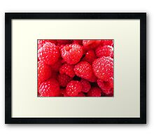 Rasberries Framed Print