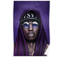 Purple Swag Poster