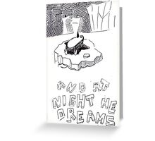 The dreaming Penguin Greeting Card