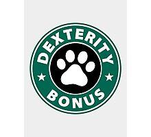 Dexterity Bonus (Dexbonus) - Starbucks Inspired Logo Photographic Print