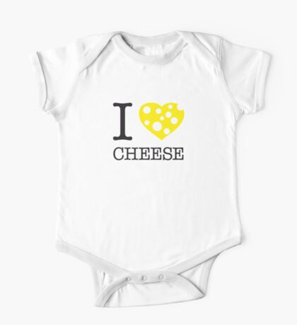 I ♥ CHEESE One Piece - Short Sleeve