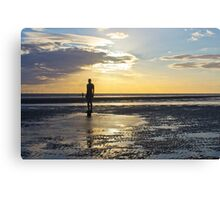 Crosby Beach Iron Man Sunset Canvas Print