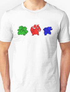 Kanto Coloured Silohouette Starters T-Shirt