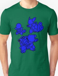 Water Kanto Starters Silohouettes T-Shirt