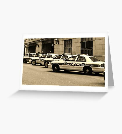 NYPD Squad Cars Greeting Card