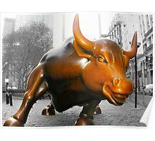 Charging Bull Poster