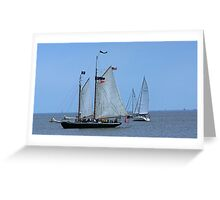 Hindu Tall Ship Greeting Card